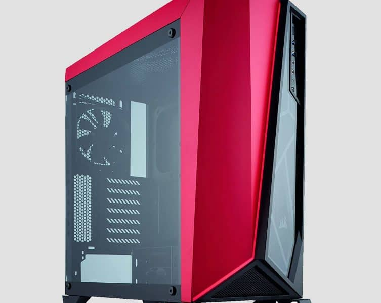 Red PC Case Cover